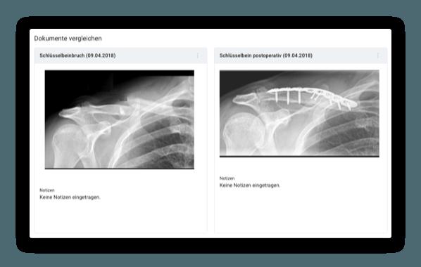 Wahlarzt-Software Funktionen Bildvergleich