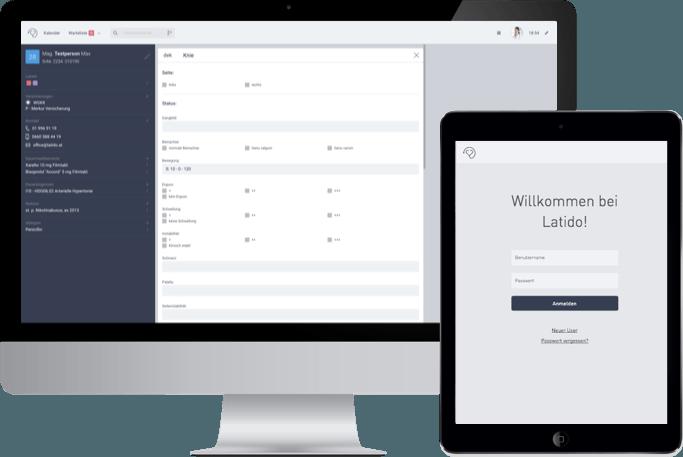 Wahlarzt-Software für Orthopäden - Das Interface